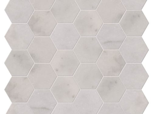 PA – Le Bouscat Island Marble Honed White Hexagon 7
