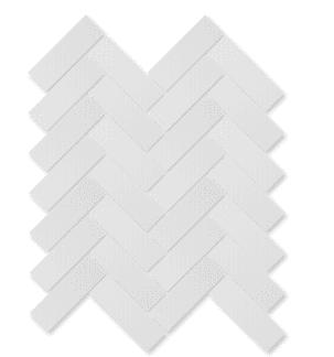 Blanco brillo heringbone 13