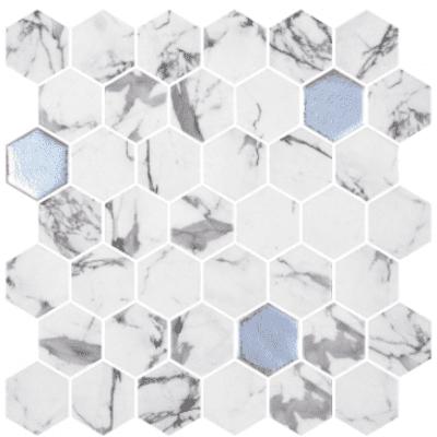 Hexagonal light blue blend 5