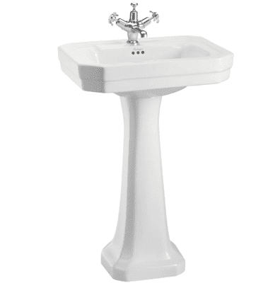 Victorian 56cm basin and standard pedestal 11