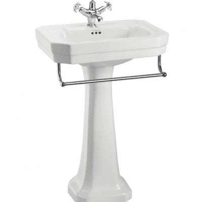 Victorian 61cm basin and standard pedestal 8